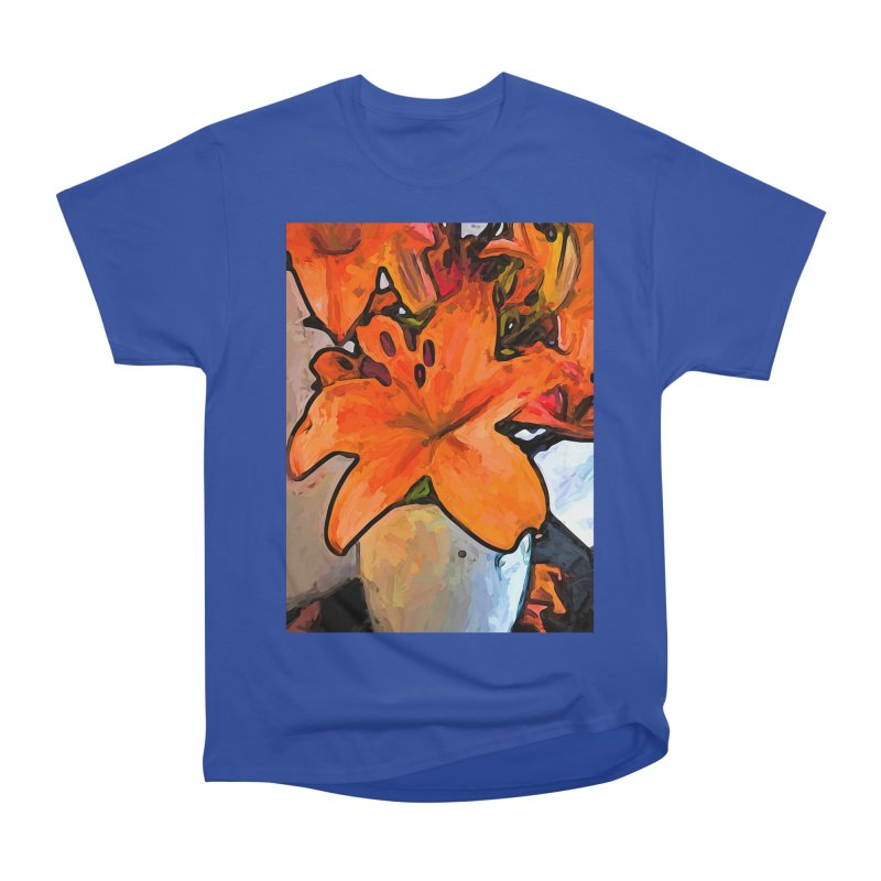 The Orange Lilies in the Mother of Pearl Vase Men's Classic T-Shirt by jackievano's Artist Shop