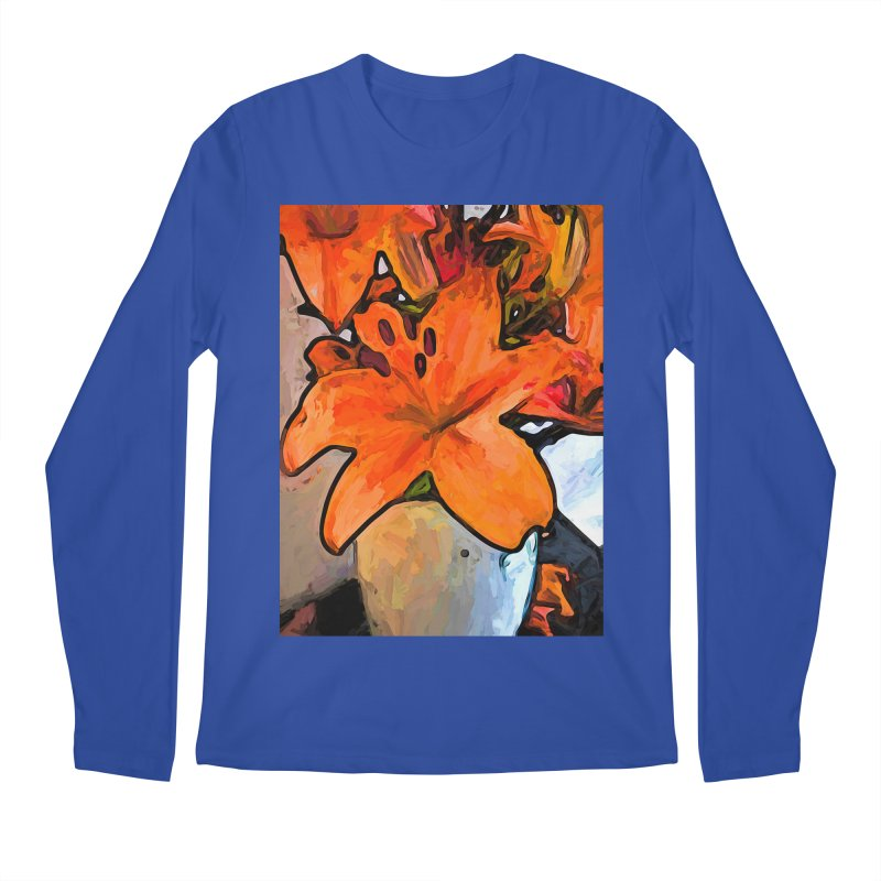 The Orange Lilies in the Mother of Pearl Vase Men's Longsleeve T-Shirt by jackievano's Artist Shop