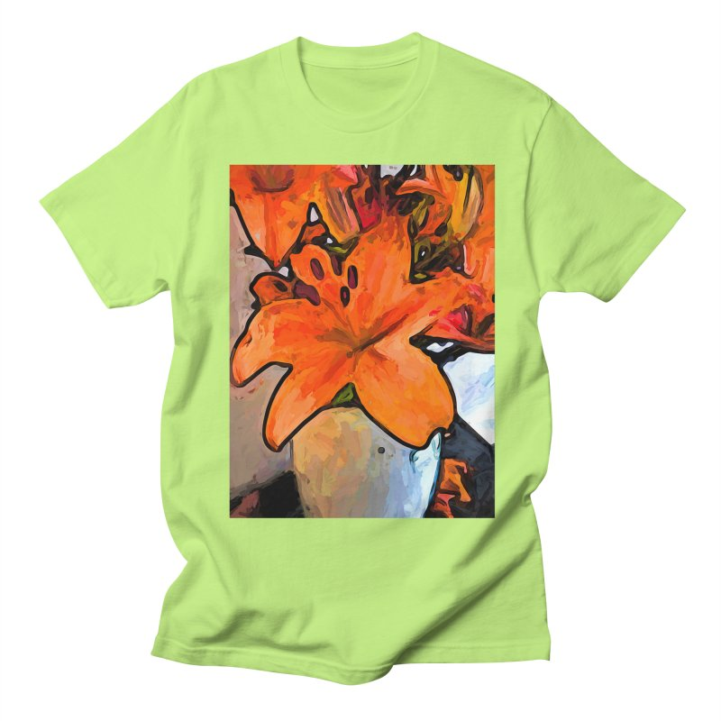 The Orange Lilies in the Mother of Pearl Vase Women's Unisex T-Shirt by jackievano's Artist Shop