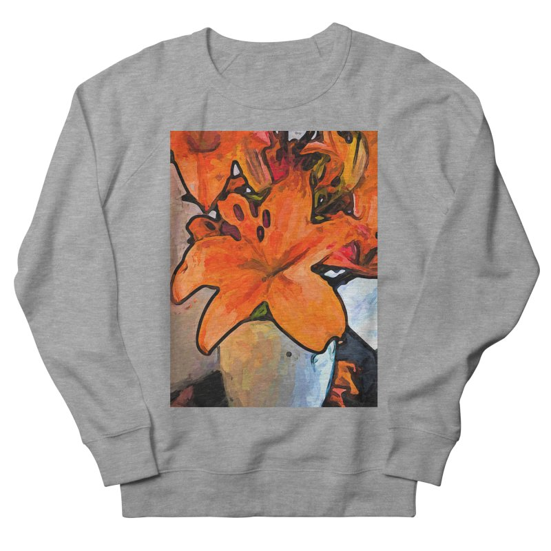 The Orange Lilies in the Mother of Pearl Vase Women's Sweatshirt by jackievano's Artist Shop