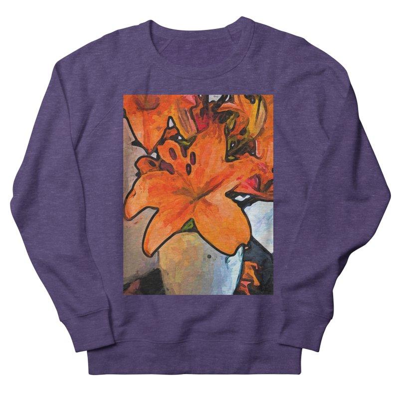The Orange Lilies in the Mother of Pearl Vase Men's Sweatshirt by jackievano's Artist Shop