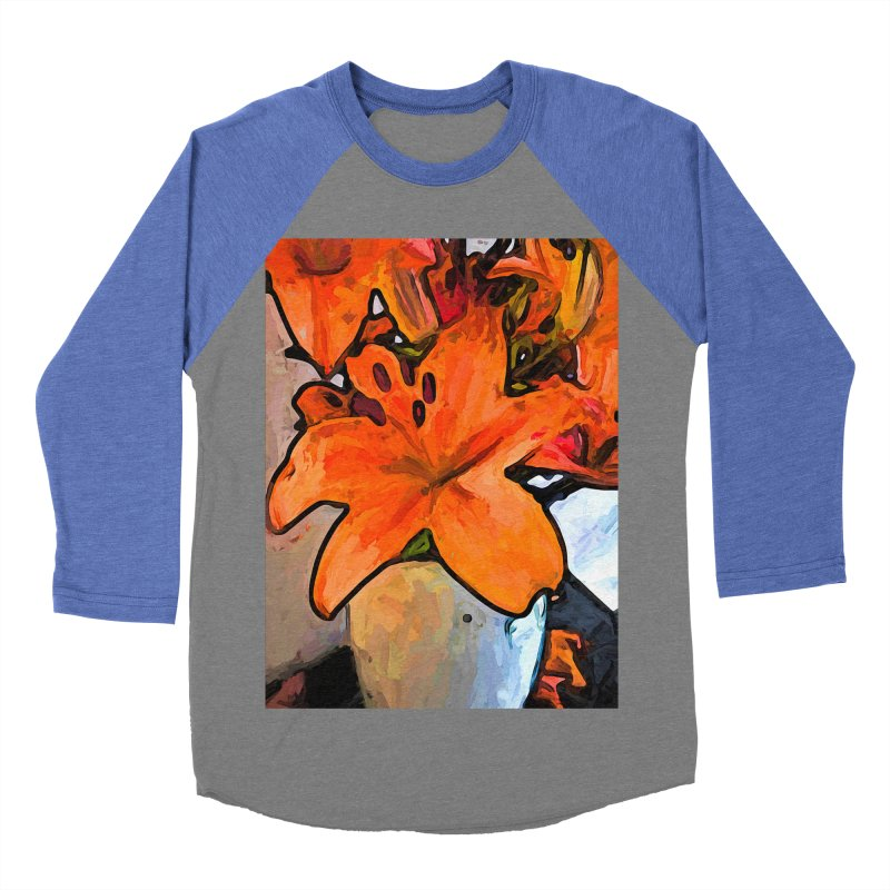 The Orange Lilies in the Mother of Pearl Vase Women's Baseball Triblend T-Shirt by jackievano's Artist Shop