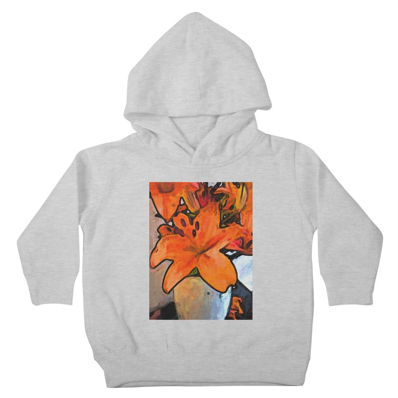 The Orange Lilies in the Mother of Pearl Vase Kids Toddler Pullover Hoody by jackievano's Artist Shop