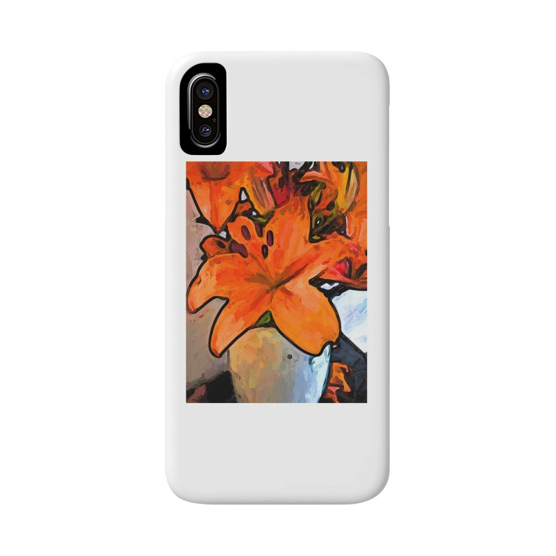 The Orange Lilies in the Mother of Pearl Vase Accessories Phone Case by jackievano's Artist Shop