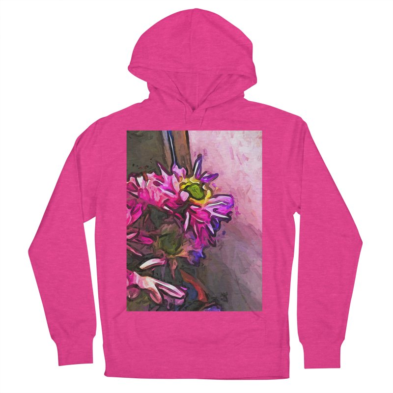 The Pink and Purple Flower by the Pale Pink Wall Women's Pullover Hoody by jackievano's Artist Shop