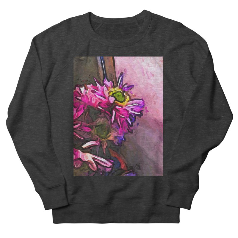 The Pink and Purple Flower by the Pale Pink Wall Women's Sweatshirt by jackievano's Artist Shop