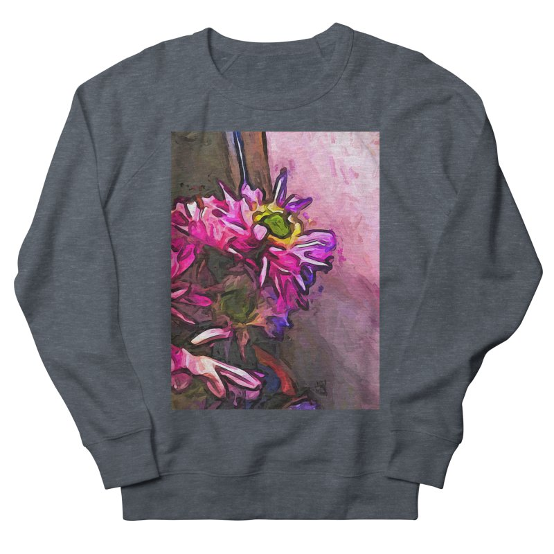 The Pink and Purple Flower by the Pale Pink Wall Men's Sweatshirt by jackievano's Artist Shop