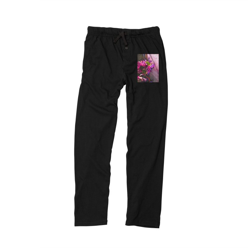 The Pink and Purple Flower by the Pale Pink Wall Women's Lounge Pants by jackievano's Artist Shop