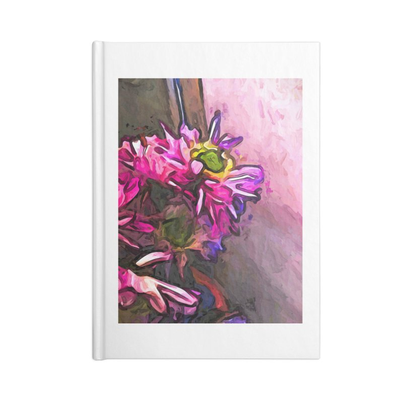 The Pink and Purple Flower by the Pale Pink Wall Accessories Notebook by jackievano's Artist Shop