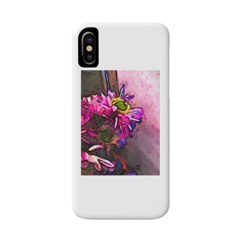 The Pink and Purple Flower by the Pale Pink Wall Accessories Phone Case by jackievano's Artist Shop