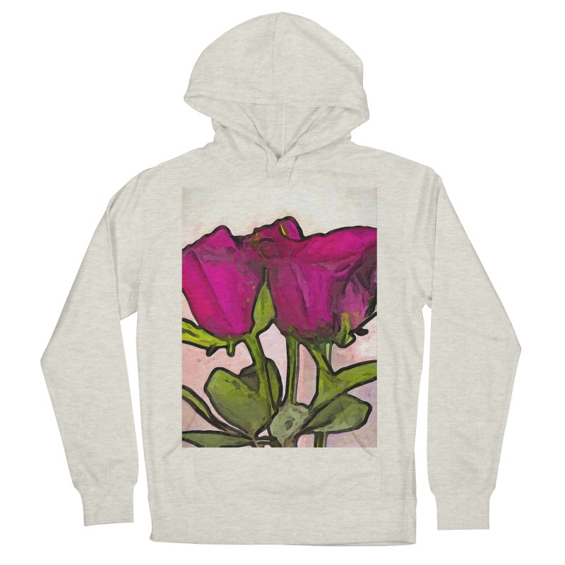 The Roses with the Green Stems and Leaves Women's Pullover Hoody by jackievano's Artist Shop
