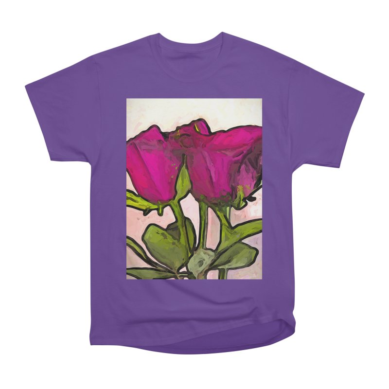The Roses with the Green Stems and Leaves Men's Classic T-Shirt by jackievano's Artist Shop