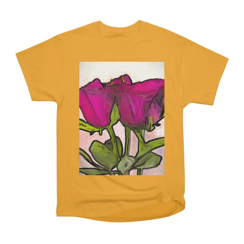 The Roses with the Green Stems and Leaves Women's Classic Unisex T-Shirt by jackievano's Artist Shop