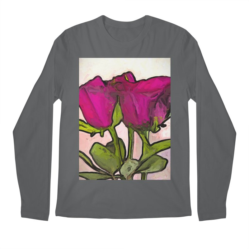 The Roses with the Green Stems and Leaves Men's Longsleeve T-Shirt by jackievano's Artist Shop