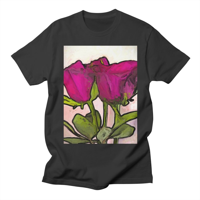 The Roses with the Green Stems and Leaves Men's T-Shirt by jackievano's Artist Shop