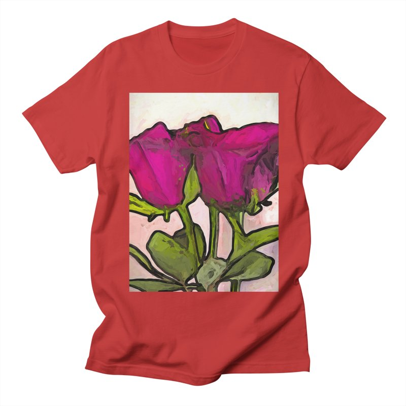 The Roses with the Green Stems and Leaves Women's Unisex T-Shirt by jackievano's Artist Shop