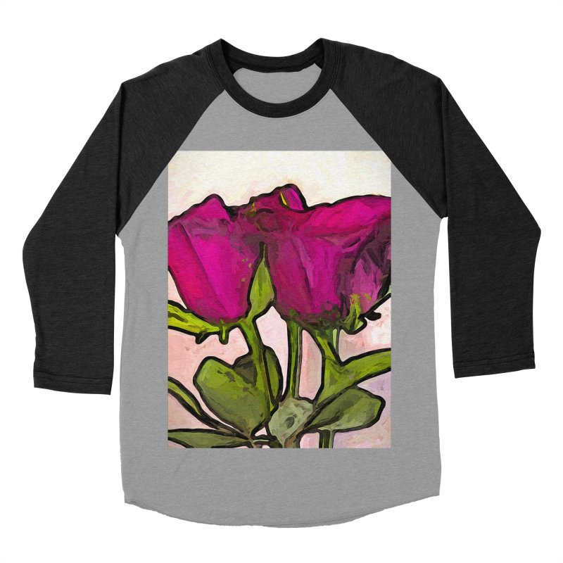 The Roses with the Green Stems and Leaves Women's Baseball Triblend T-Shirt by jackievano's Artist Shop