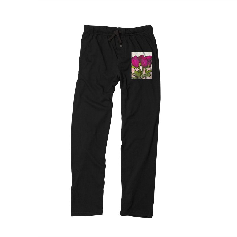 The Roses with the Green Stems and Leaves Men's Lounge Pants by jackievano's Artist Shop