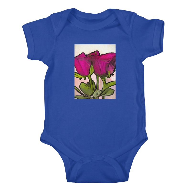 The Roses with the Green Stems and Leaves Kids Baby Bodysuit by jackievano's Artist Shop