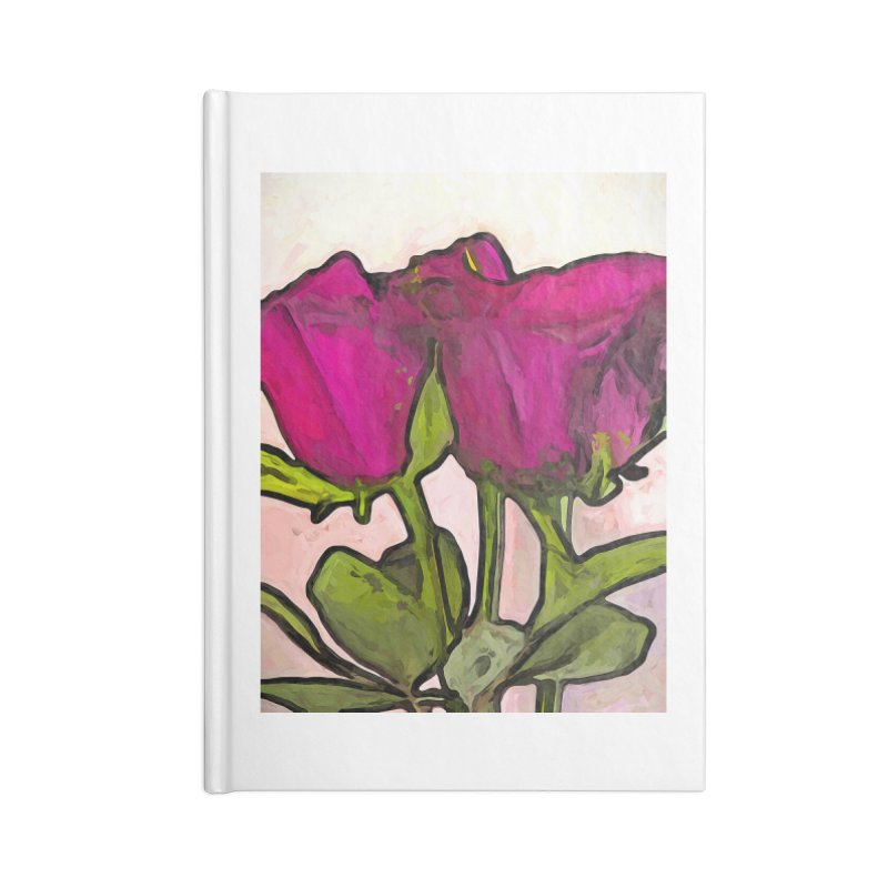 The Roses with the Green Stems and Leaves Accessories Notebook by jackievano's Artist Shop