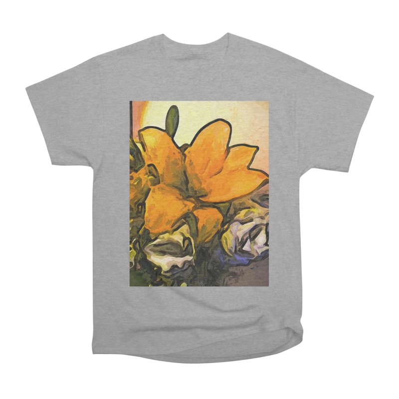 The Big Gold Flower and the White Roses Men's Classic T-Shirt by jackievano's Artist Shop
