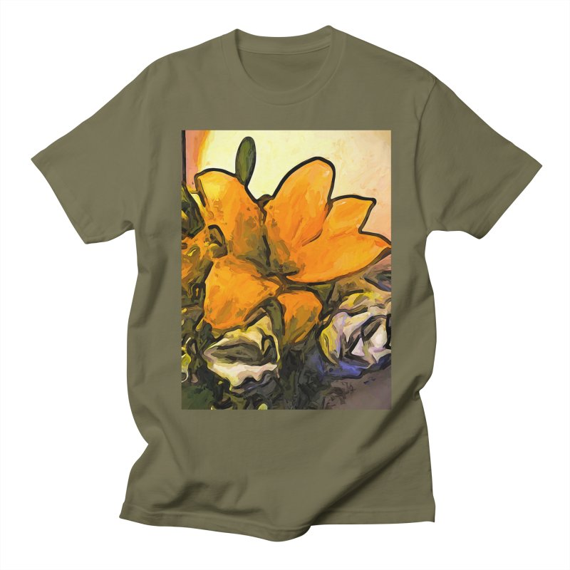 The Big Gold Flower and the White Roses Men's T-Shirt by jackievano's Artist Shop