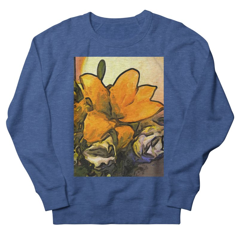 The Big Gold Flower and the White Roses Women's Sweatshirt by jackievano's Artist Shop