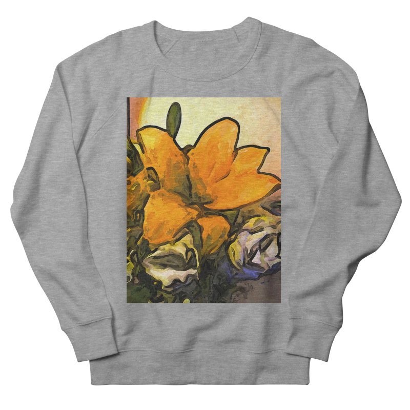 The Big Gold Flower and the White Roses Men's Sweatshirt by jackievano's Artist Shop