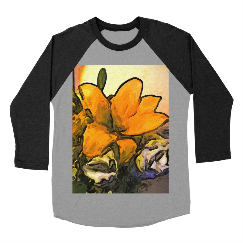 The Big Gold Flower and the White Roses Men's Baseball Triblend T-Shirt by jackievano's Artist Shop