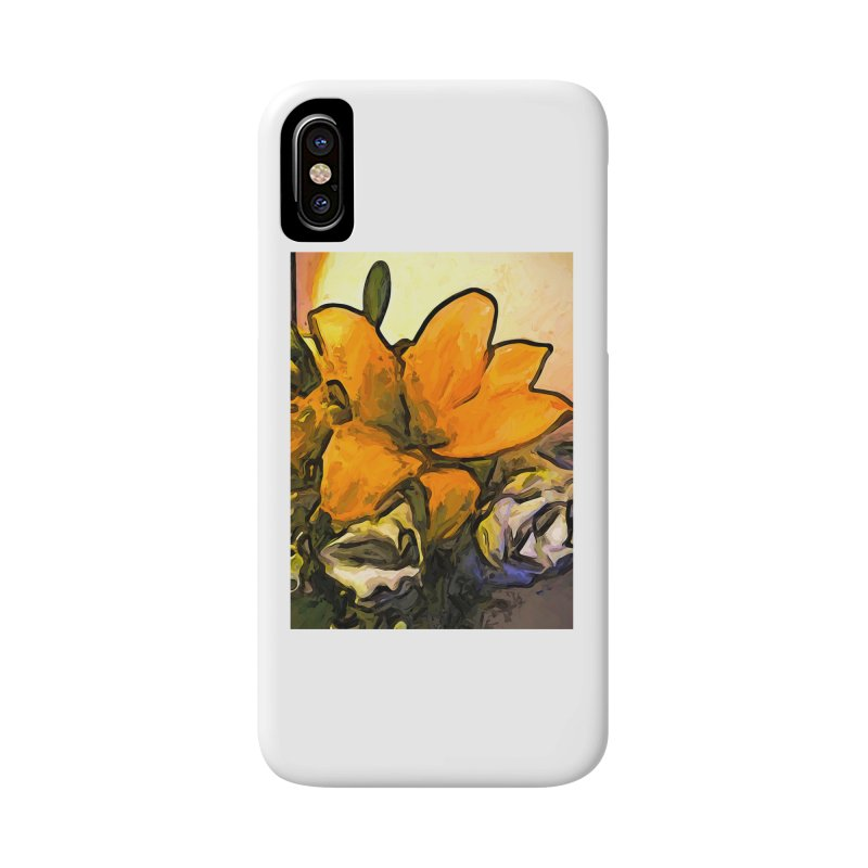 The Big Gold Flower and the White Roses Accessories Phone Case by jackievano's Artist Shop