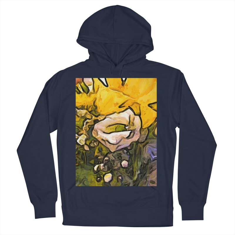 The White Rose with the Eye and Gold Petals Women's Pullover Hoody by jackievano's Artist Shop