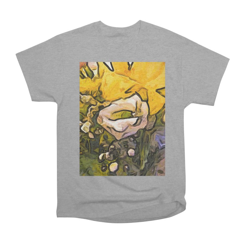 The White Rose with the Eye and Gold Petals Men's Classic T-Shirt by jackievano's Artist Shop