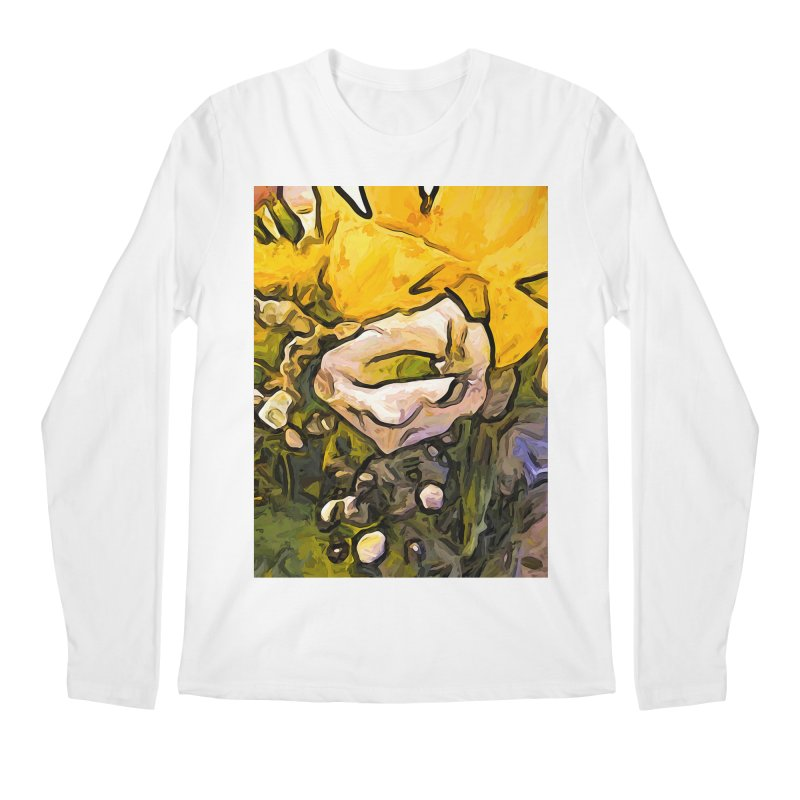 The White Rose with the Eye and Gold Petals Men's Longsleeve T-Shirt by jackievano's Artist Shop