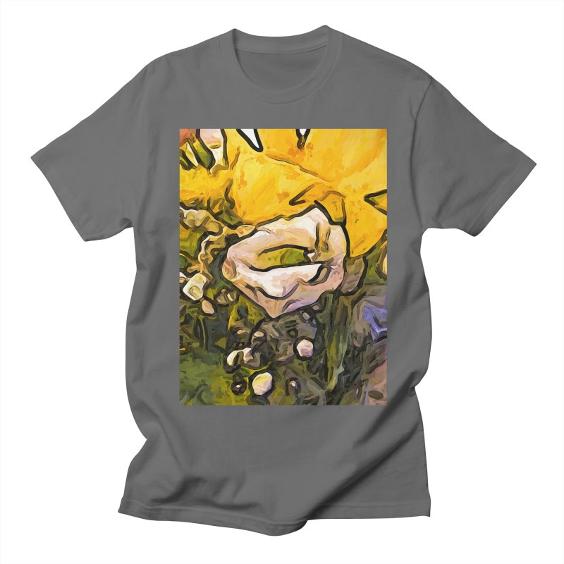The White Rose with the Eye and Gold Petals Women's Unisex T-Shirt by jackievano's Artist Shop