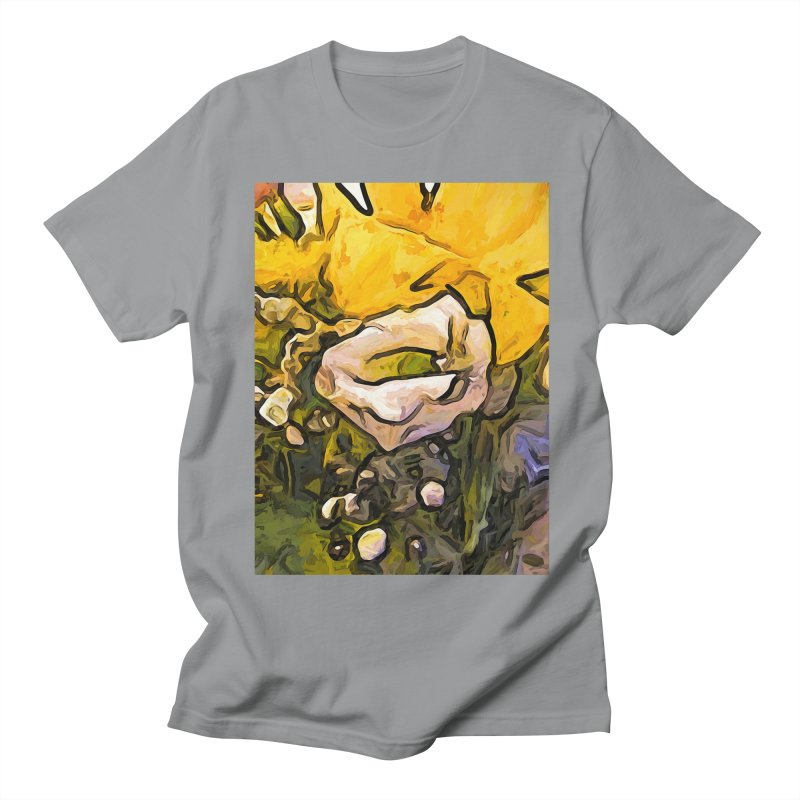 The White Rose with the Eye and Gold Petals Men's T-Shirt by jackievano's Artist Shop