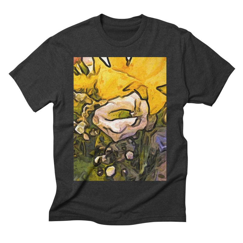 The White Rose with the Eye and Gold Petals Men's Triblend T-Shirt by jackievano's Artist Shop