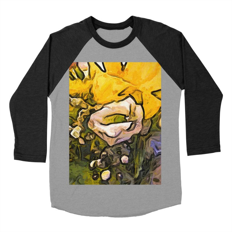The White Rose with the Eye and Gold Petals Women's Baseball Triblend T-Shirt by jackievano's Artist Shop
