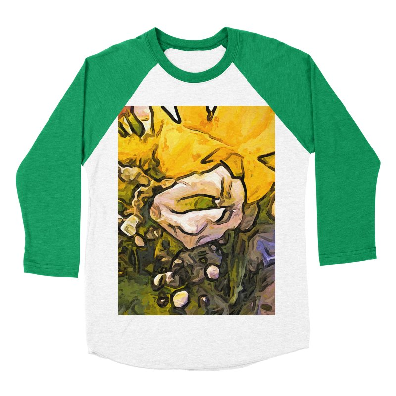 The White Rose with the Eye and Gold Petals Men's Baseball Triblend T-Shirt by jackievano's Artist Shop
