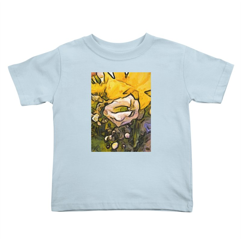 The White Rose with the Eye and Gold Petals Kids Toddler T-Shirt by jackievano's Artist Shop