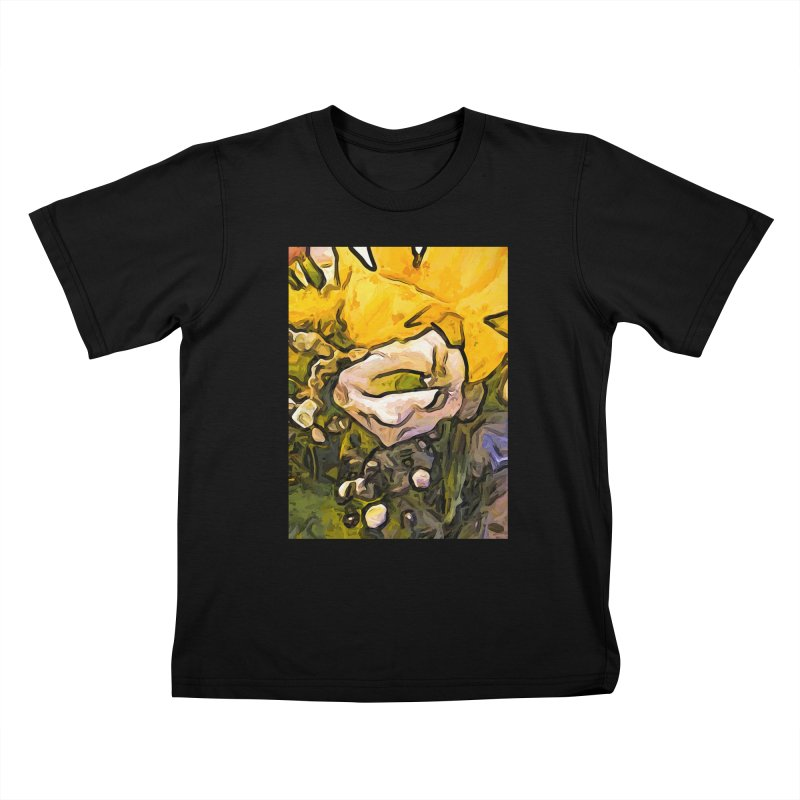 The White Rose with the Eye and Gold Petals Kids T-Shirt by jackievano's Artist Shop