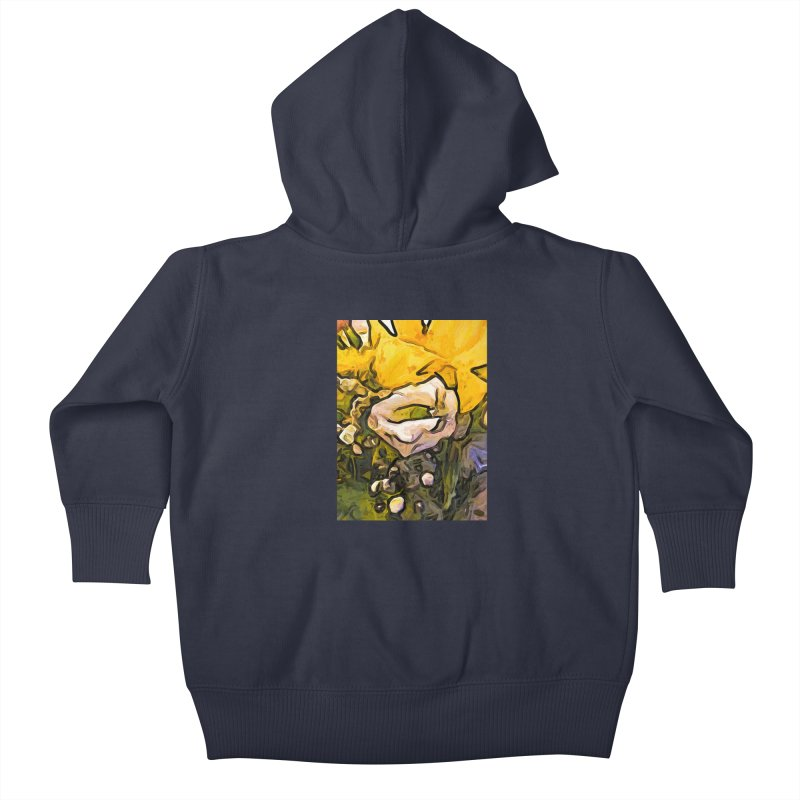 The White Rose with the Eye and Gold Petals Kids Baby Zip-Up Hoody by jackievano's Artist Shop