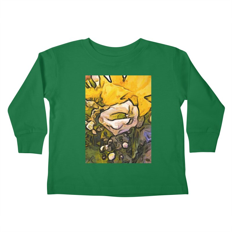 The White Rose with the Eye and Gold Petals Kids Toddler Longsleeve T-Shirt by jackievano's Artist Shop