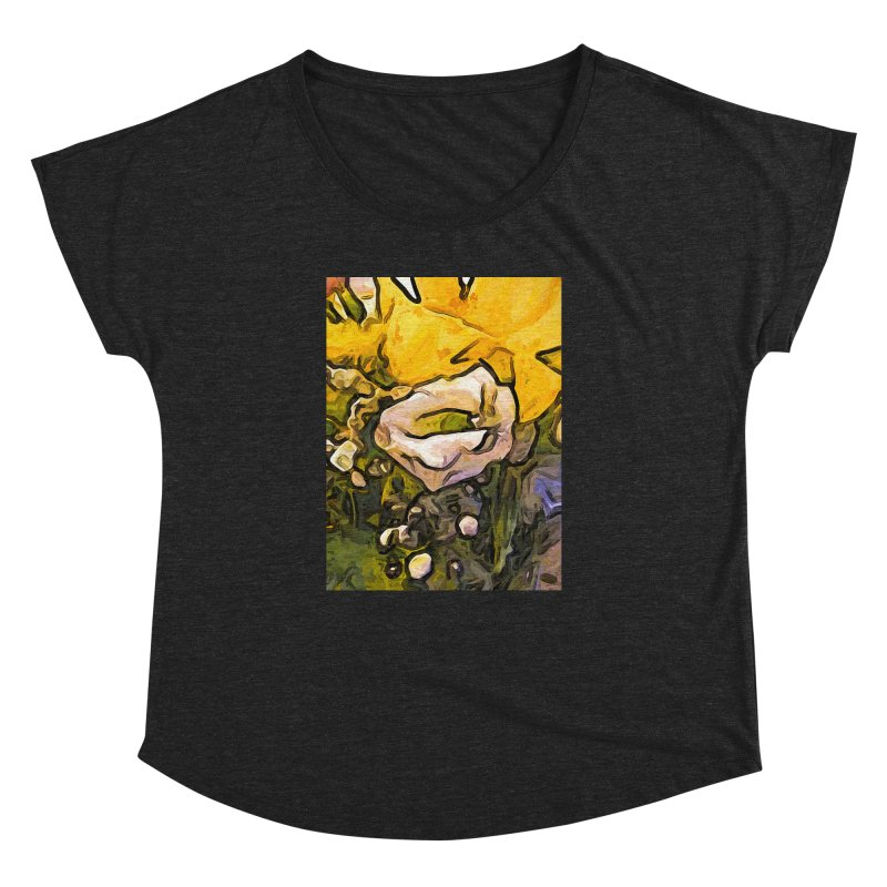 The White Rose with the Eye and Gold Petals Women's Dolman by jackievano's Artist Shop