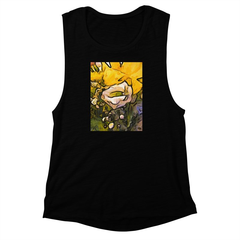 The White Rose with the Eye and Gold Petals Women's Muscle Tank by jackievano's Artist Shop