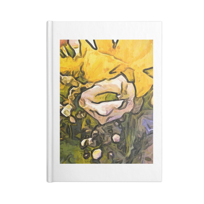 The White Rose with the Eye and Gold Petals Accessories Notebook by jackievano's Artist Shop