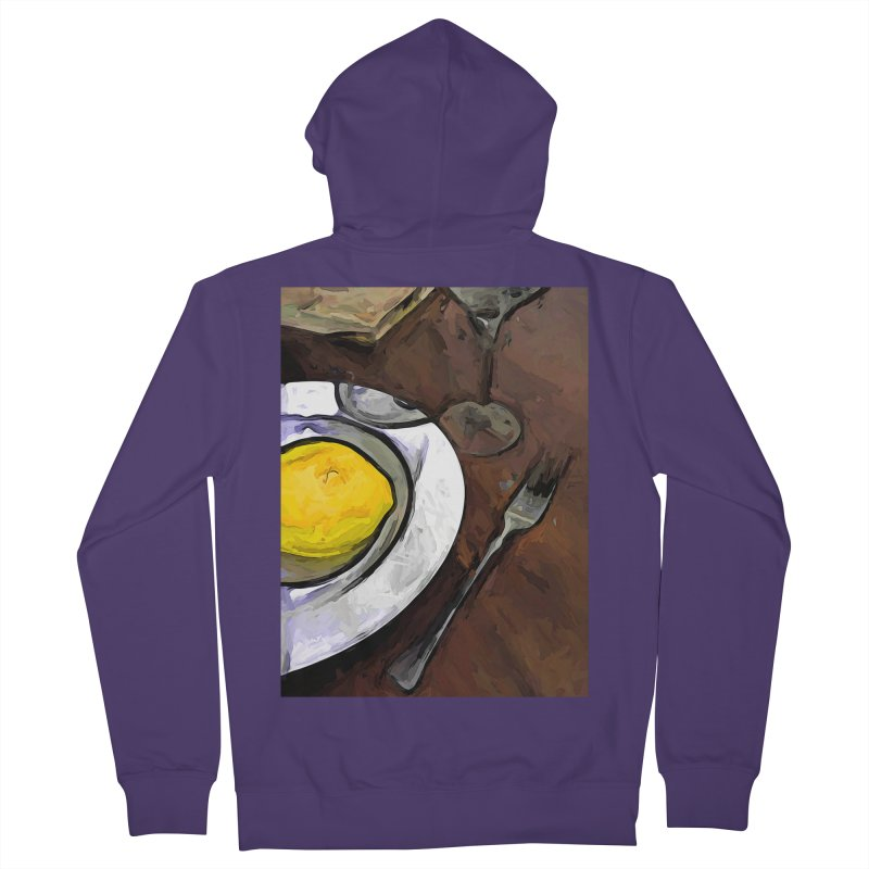 The Yellow Lemon in the White Bowl with the Fork Women's Zip-Up Hoody by jackievano's Artist Shop