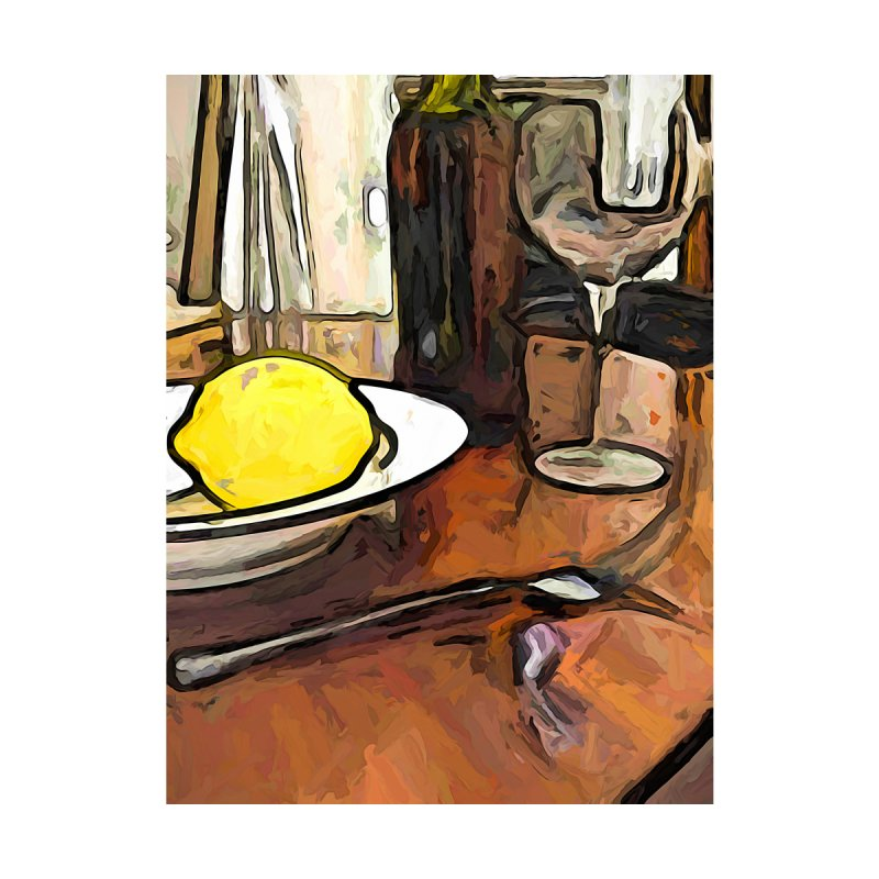 The Yellow Lemon in the Bowl with the Wine Glass by jackievano's Artist Shop