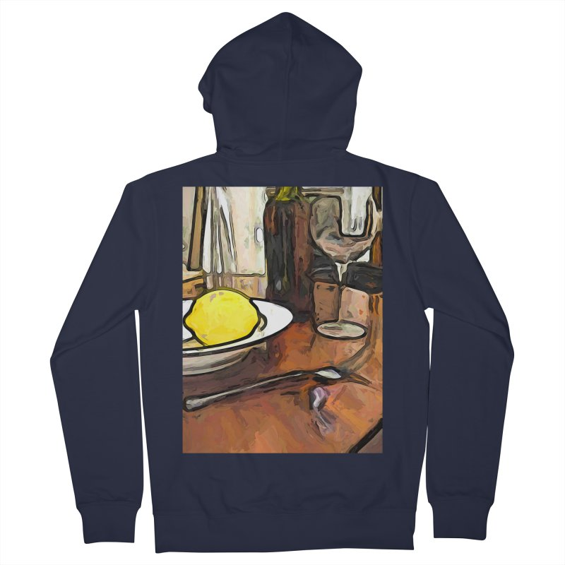 The Yellow Lemon in the Bowl with the Wine Glass Women's Zip-Up Hoody by jackievano's Artist Shop