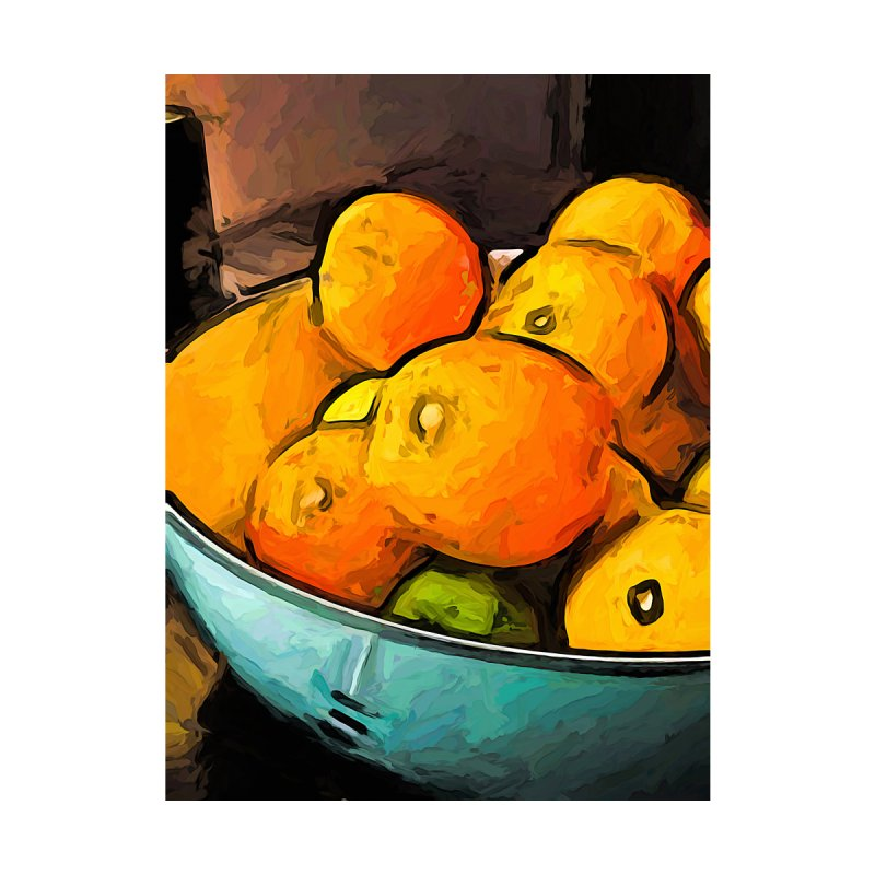 The Oranges in the Turquoise Fruit Bowl by jackievano's Artist Shop