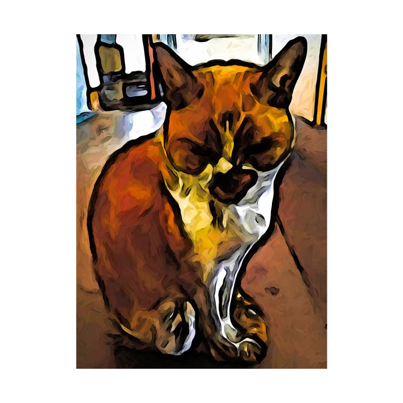 The Orange Cat Sleeping while Sitting Up by jackievano's Artist Shop